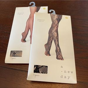 BNIB A New Day Fashion Tights S/M (Lot of 2)